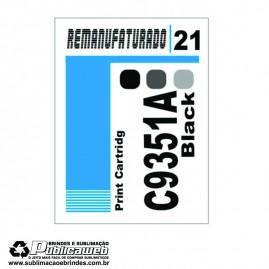 Etiqueta para Cartucho HP 21 C9351