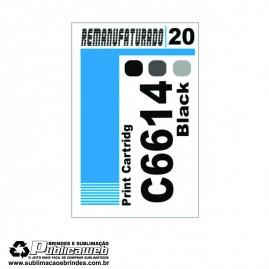 Etiqueta para Cartucho HP 20 C6614