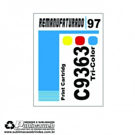 Etiqueta para Cartucho HP 97 C9363