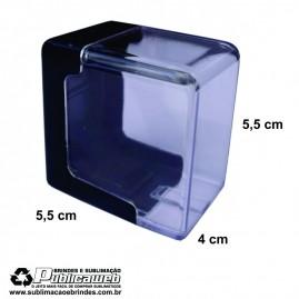 Caixa Clips Cristal Abertura Lateral Pequena para Cartucho c/ 10 Unid.