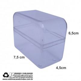 Caixa em Poliestireno Cristal Comprida para Cartucho c/ 10 Unid.