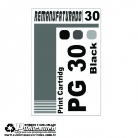 Etiqueta para Cartucho Canon 30 PG 30