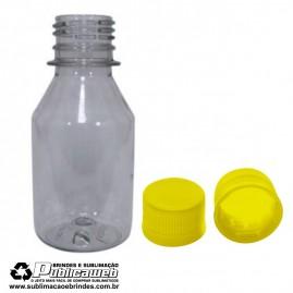Frasco 100ml em PET com Tampa 28mm Amarelo Com 10 frascos