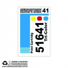 Etiqueta para Cartucho HP 41 51641