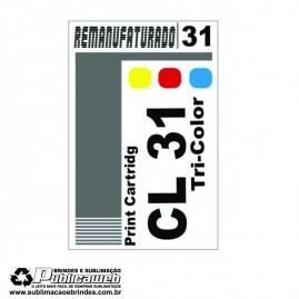 Etiqueta para Cartucho Canon 31 CL 31