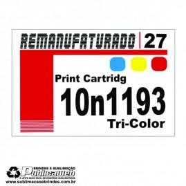 Etiqueta para Cartucho Lexmark 27 10N1193