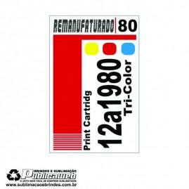 Etiqueta para Cartucho Lexmark 180 12A1980