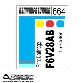 Etiqueta para Cartucho HP 664 F6V28AB