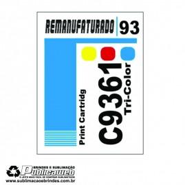 Etiqueta para Cartucho HP 93 C9361