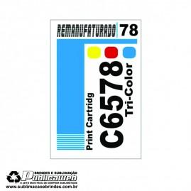 Etiqueta para Cartucho HP 78 C6578