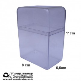 Caixa em Poliestireno Cristal Grande para Cartucho c/ 10 Unid.