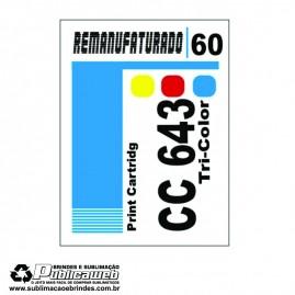 Etiqueta para Cartucho HP 60 CC643