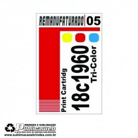 Etiqueta para Cartucho Lexmark 05 18c1960