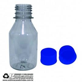 Frasco 100ml em PET com Tampa 28mm Azul Com 10 frascos