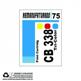 Etiqueta para Cartucho HP 75 CB338