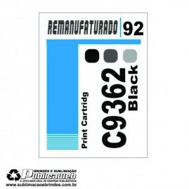 Etiqueta para Cartucho HP 92 C9362