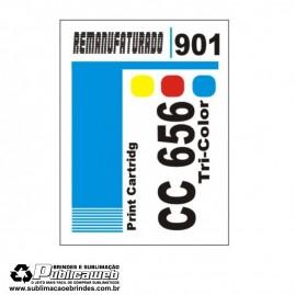 Etiqueta para Cartucho HP 901 CC656